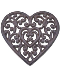 heart shaped cast iron trivet heart triv