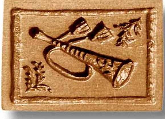 6973 Trumpet Music springerle cookie mold by Anis-Paradies