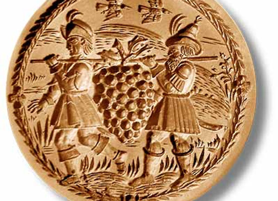 AP 1085 Caleb's Grapes circa 1670 springerle cookie mold by Anis-Paradies