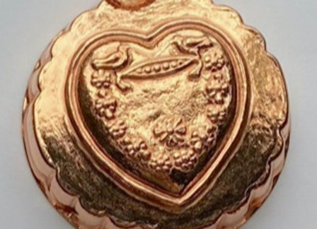 BG 106 Heart Copper Choclolate Confection Molds by Birth-Gramm