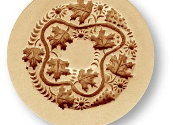2013 Leaf Wreath springerle cookie mold by Anis-Paradise