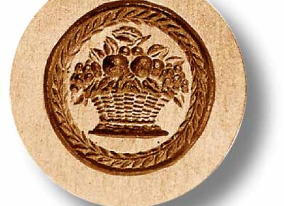 Fruit Basket with Leaf Border springerle cookie mold by Anis Paradies 2253