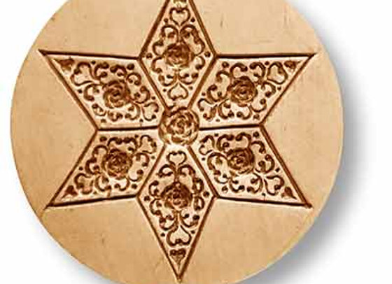 AP 1038 Star with Diamond Ornaments springerle cookie mold by Anis-Paradies