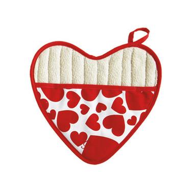 heart shaped potholder jesse steele 603-
