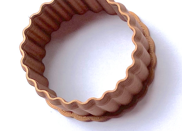 AP C - 1216F Fluted Round cookie cutter by Gingerhaus