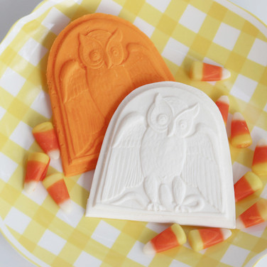 springerle cookie mold owl halloween 632