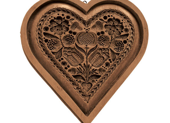 Cake Heart Springerle Cookie Mold by House on the Hill