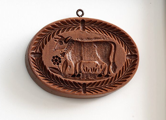 Oval Cow Springerle Cookie Mold  by House on the Hill M5477