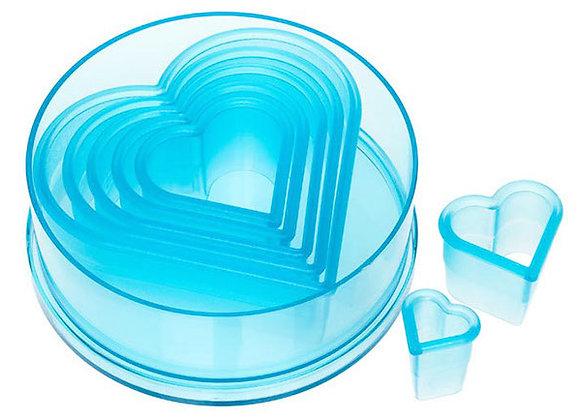 7 Piece Plain Heart Cutter Set