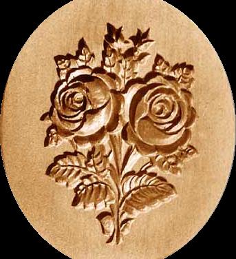 2298 double rose bouquet springerle cook