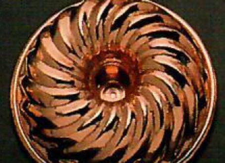 Swiss Kugelhopf Bundt Copper Baking Mold Cake Pan Birth-Gramm BG421-B