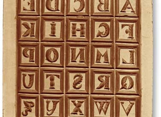 ABC Slate Alphabet springerle cookie mold Änis-Paradies 9995