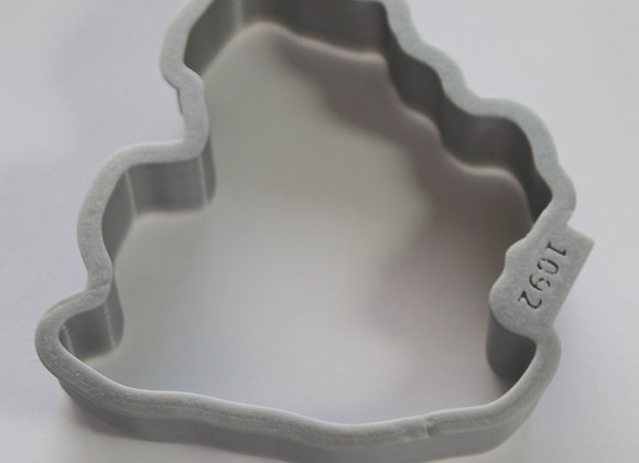 C - 1092 Santa on Donkey cookie cutter by Gingerhaus