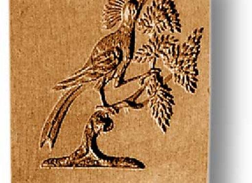 Hummingbird Bird on holly springerle cookie mold by Anis-Paradies 3456