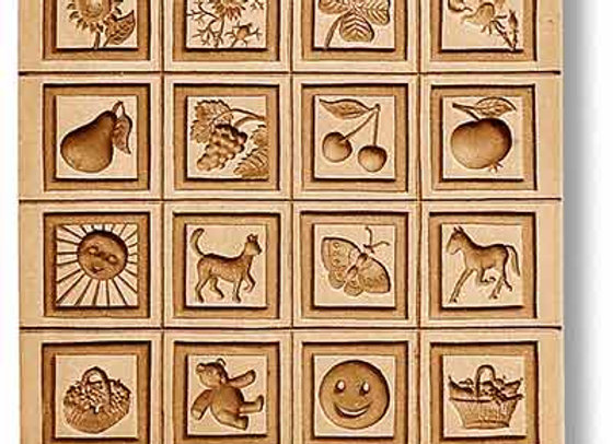 16 Pictures: Small Motifs Throughout the Year springerle mold Änis-Paradies 8886