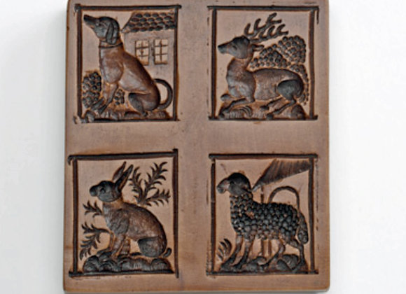 M5736 Petting Zoo Springerle Cookie Mold - House on the Hill