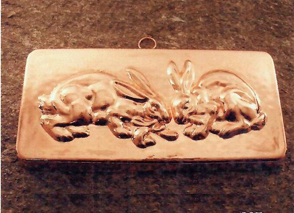 Swiss Bunny Rabbits Copper Baking Mold Cake Pan Birth-Gramm BG907