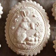 bunny rabbit in egg springerle cookie mo
