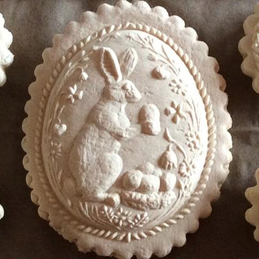 bunny rabbit in egg springerle mold
