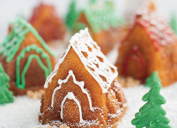 Cozy Village Gingerbread House Bundt Cake Pan by Nordic Ware 81948