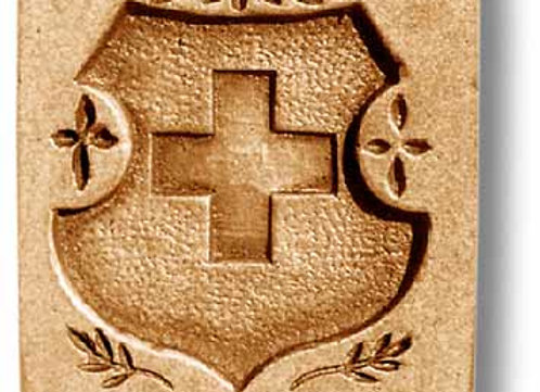 Swiss Cross Shield springerle cookie mold by Anise Paradise