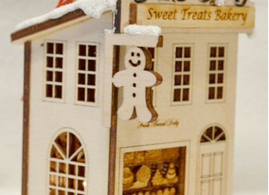 Bakery Wooden Ornament by TRC Ginger Cottages