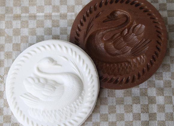 Swan Lake Springerle Cookie Mold by Gingerhaus M11828