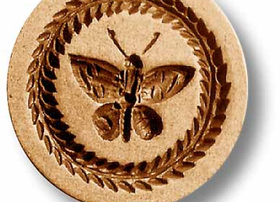 Butterfly with Leaf border springerle cookie mold by Anis Paradies 3455