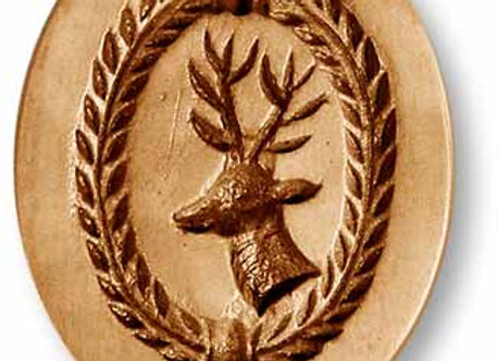 Deer Oval springerle cookie mold by Anis-Paradies 3513
