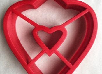 C - 5118.1 Bridged  Heart cookie cutter by Gingerhaus 17279