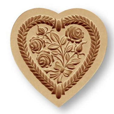 rose heart cookie mold springerle anis p