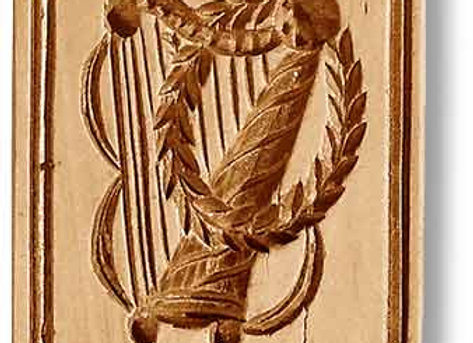 Harp with Wreath music springerle cookie mold by Anise Paradise 6820