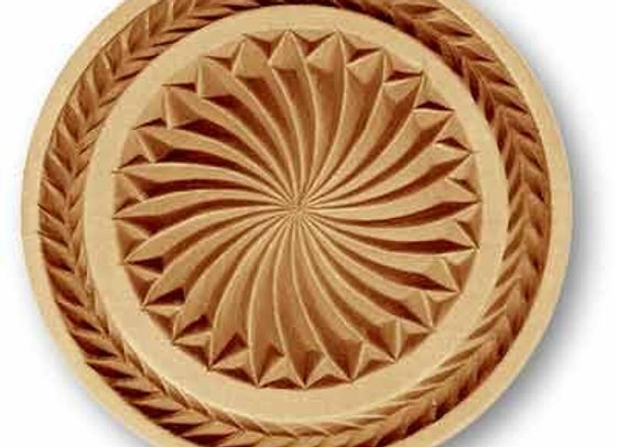 Sun Whirl with border springerle cookie mold by Anis-Paradies 1679