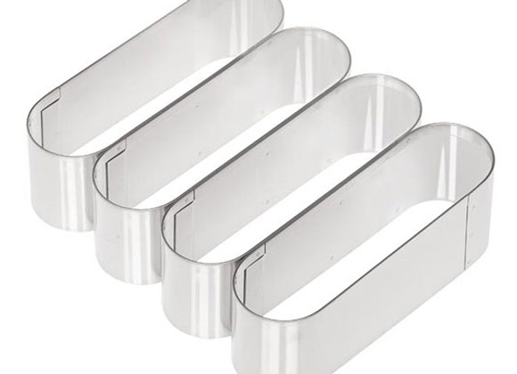 """5"""" Oval Lady Finger Cookie Cutter Set of 4"""