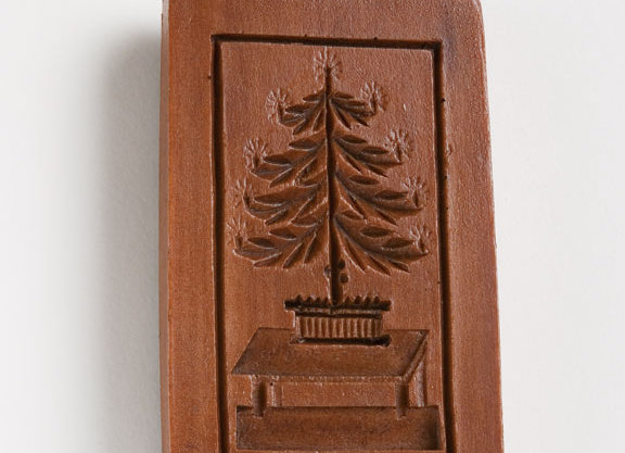 M5109 Christmas Tree on Table Springerle Cookie Mold  by House on the Hill 510