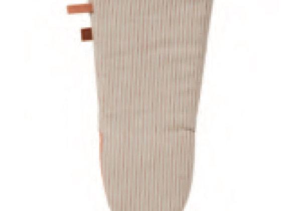 7STP02L 1880 Heritage Series Coral Stripe Linen Gauntlet Mitt by Ulster W