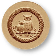 3420 owl family springerle cookie mold