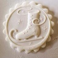 Ice Skate springerle cookie mold by Anise Paradise SKU: 01210