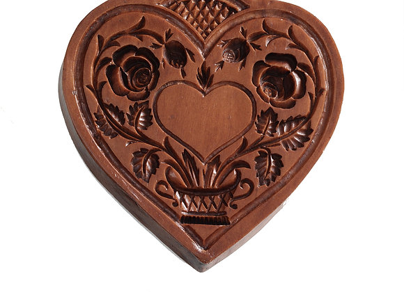 Quilted Heart Springerle Cookie Mold  by House on the Hill M5098