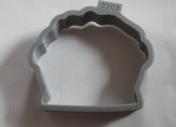 C - 2303 Flower Basket cookie cutter by Gingerhaus