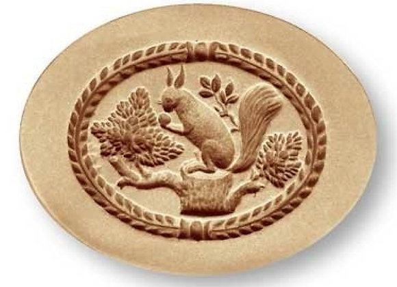 Squirrel in oval springerle cookie mold by Anis-Paradies 03353