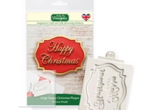 CP0023 Happy Christmas silicone mold by Katy Sue Designs