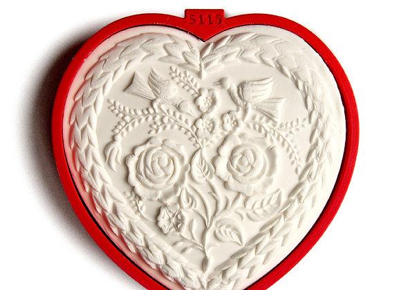 C - 5115 Flower Heart cookie cutter by Gingerhaus 17228