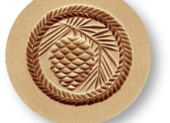 1029 Pine Cone Round springerle cookie mold by Anis-Paradies