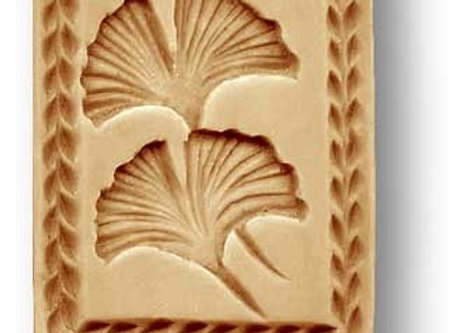 AP  2742 Ginko Leaf, small springerle cookie mold by Anis-Paradies