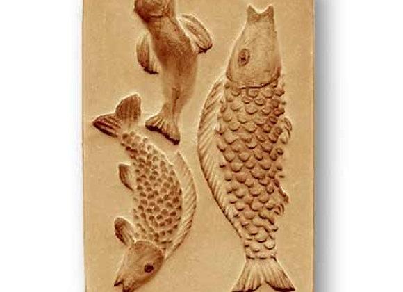 AP 3384 Swarming Fish springerle cookie mold by  Änis-Paradies