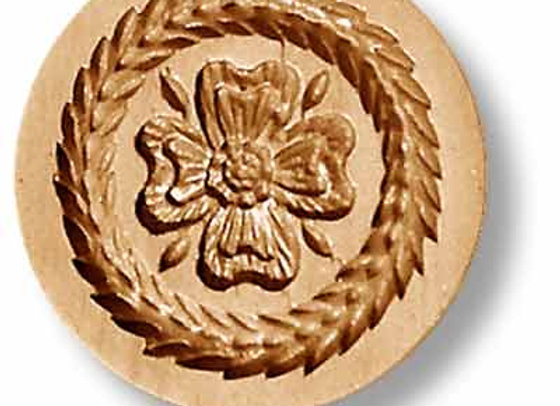 Four Petal Flower springerle cookie mold by Anis-Paradies 2237