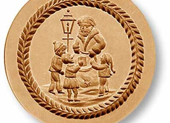 AP1097 Santa Giving Presents to Children springerle cookie mold by Anis-Paradies