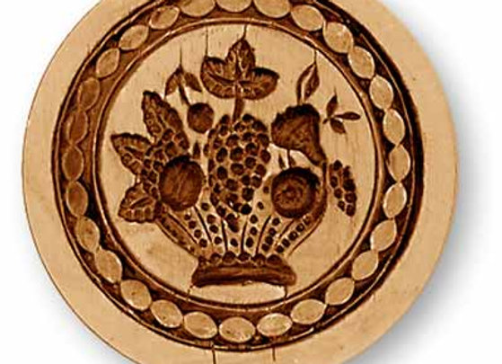 Fruit Basket with Biedermeier Wreath springerle cookie mold Anis Paradies 2378