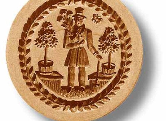 Gardener springerle cookie mold by Anis-Paradies 07216